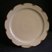 "Charles Haviland & Co. Limoges ""Silver Anniversary"" Large Round Chop Plate- Schleiger #19"