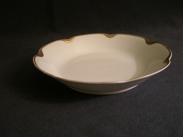 """Set of 3 - Charles Haviland & Co.  Limoges """"Silver Anniversary""""  Coup Soup Bowls - Schleiger #19"""