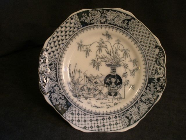 "Copeland  Earthenware ""Kew"" Pattern Plate in Blue & White"
