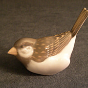 "Royal Copenhagen Figurine ""Sparrow w/Tail Up"" Model #1081"