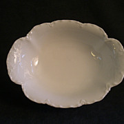 "Charles Haviland & Co. Limoges ""Ranson/White"" Oval Open Serving Bowl"