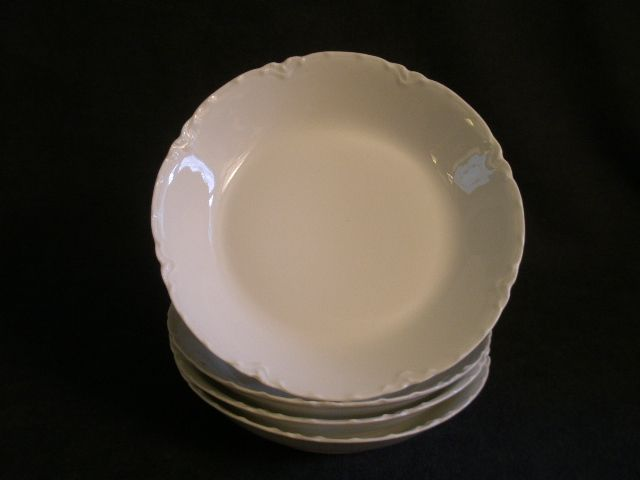 "Charles Haviland & Co. Limoges ""Ranson/White"" -  Set of 4 - Coup-Style Soup Bowls"