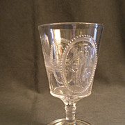 EAPG - Pair of Cupid & Venus (Guardian Angel) Water Goblets