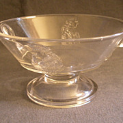 EAPG - Actress Round Open Footed Fruit Bowl