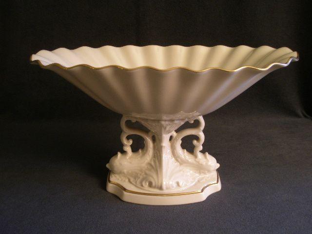 Lenox quot aquarius collection centerpiece compote w pedestal