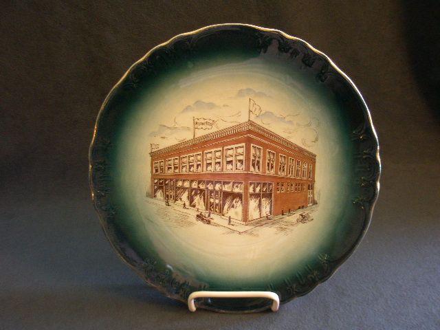 """Buffalo Pottery Commemorative Plate """"Joseph Ruwitch & Sons"""" Norway, Michigan"""