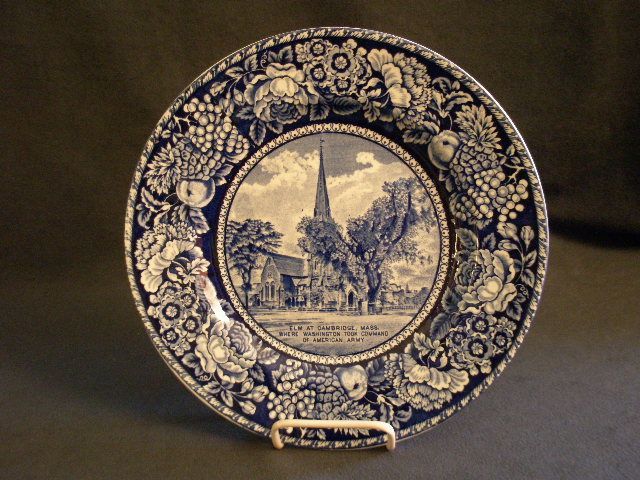 "British Anchor Pottery ""The Elm At Cambridge Mass"" Souvenir Plate"