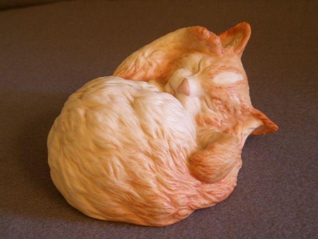 "Cybis Porcelain ""Topaz"" - Sleeping Kitten Figurine"