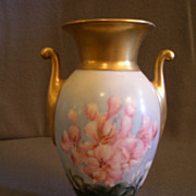 Thomas Bavaria Hand Painted Urn-Shaped Vase w/Floral Motif