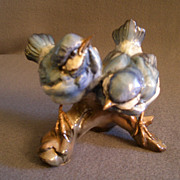"Tay Porcelain ""Fledgling Blue Birds"" Figurine"