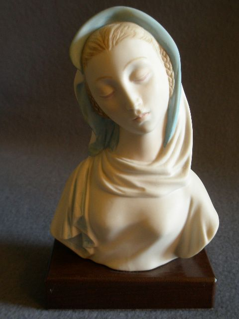 "Cybis Porcelain ""Madonna with Blue Veil"" Figurine, Model #2152"