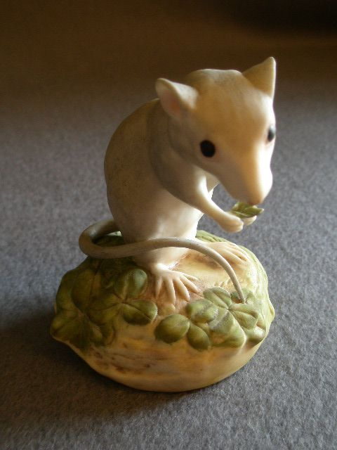 "Cybis Porcelain ""In Clover"" Deer Mouse Figurine"