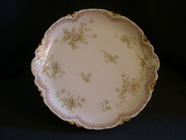 Charles Haviland & Co. Limoges Charger Plate w/Delicate Pink Floral & Bellflower Border