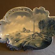 Rosenthal Blue & White Delft Savoy Bowl w/Dutch Canal Scene