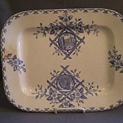 """William Emberton & Co. """"Alaska"""" Pattern Blue Transfer-ware Platter"""