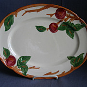 "Vintage Franciscan China ""Apple"" Pattern 14"" Oval Serving Platter"
