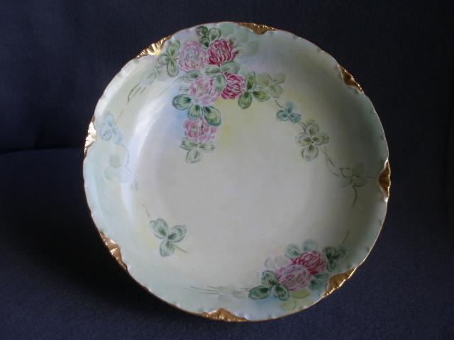 Rosenthal Porcelain Hand Painted Bowl w/Wild Clover Blossom Motif