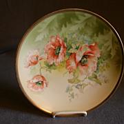 O & EG Austria Cabinet Plate w/Transfer California Poppy Blossoms Motif