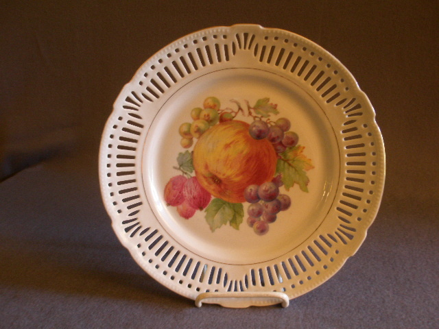 Schrvarzenhammer Germany Decorative Transfer Plate w/Variety of Fruit Decoration