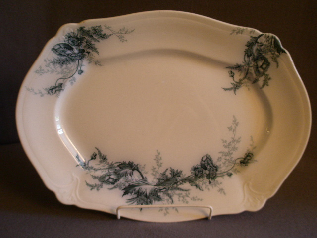 "Johnson Bros Blue Transfer ""Paris"" Pattern Large Platter"