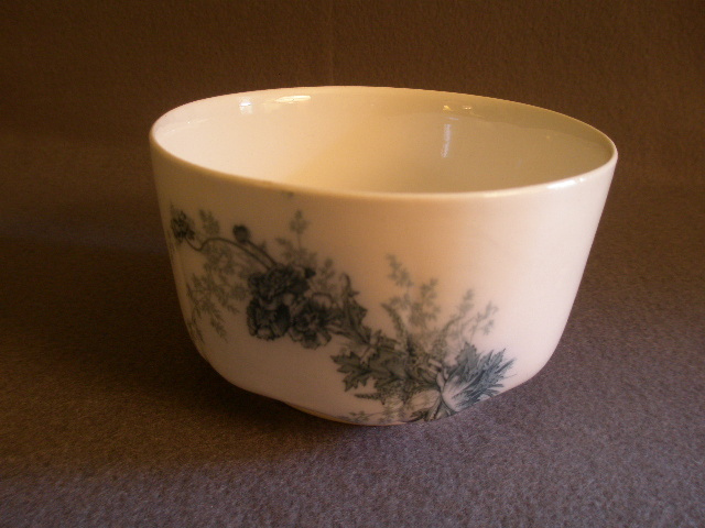 "Johnson Brothers Blue Transfer ""Paris"" Pattern Sauce or  Vegetable Bowl"