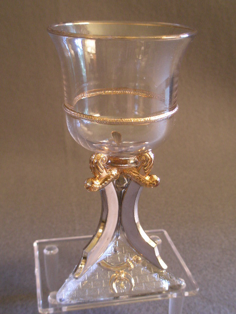 "Shriners/Masonic Syria Temple ""1900 Washington DC "" Souvenir Wine Glass"