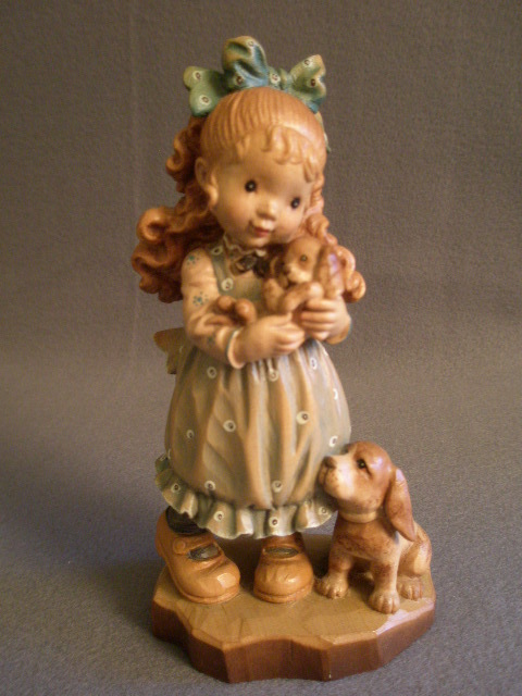 "Anri of Italy ""Our Puppy""Limited Carving 50/2000 by Sarah Kay"