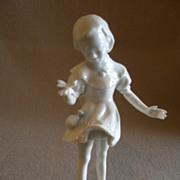 "Hutschenreuther Porcelain ""Girl w/Butterfly"" Figurine - Hans Achtziger"