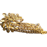 Juliana (DeLizza & Elster) Silver-Tone & Diamond Rhinestone Brooch