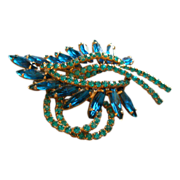 Juliana (DeLizza & Elster) Gold-Tone & Colored Rhinestone Brooch