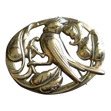 Coro Norseland Sterling Silver 'Cardinal' Brooch