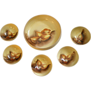 """Stouffer Studio H.P. """"Mixed Nuts"""" Motif Serving Bowl w/5 Individual Cups"""