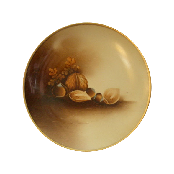 "Stouffer Studio H.P. ""Mixed Nuts"" Motif Cabinet Plate"