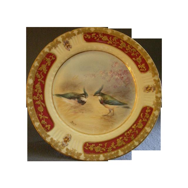Lazeyras, Rosenfeld & Lehman Limoges Hand Painted Game Plate