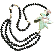 Designer Bakelite, Faux Pearls & Silver-Tone Beads Fashion Necklace