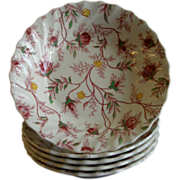 "Set of 5 Copeland Spode ""Rose Chintz""Pattern Fruit/Sauce Bowls"