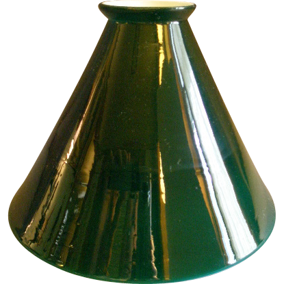Emerald green cased white glass cone shape lamp shade from emerald green cased white glass cone shape lamp shade aloadofball Images