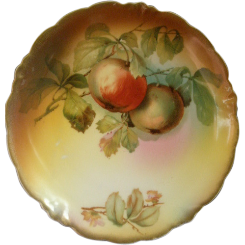 "Jaeger & Co. Porcelain ""Fruit Motif' Cabinet Plate Unsigned ""A Koch"""