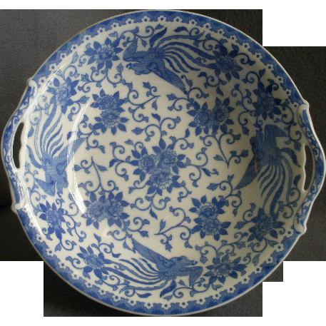 Noritake Blue & White Porcelain 'Howo' Pattern Round Open Serving Bowl