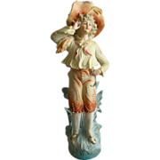 Victorian-Style Bisque Figurine - Handsome French Lad of the Period