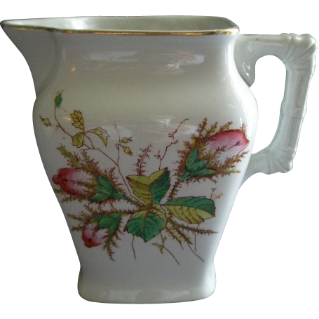 Knowles, Taylor & Knowles 'Moss Rose' Ironstone China Milk Pitcher