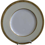 Set of 4 Royal Worcester Gold Encrusted 'Diana' Pattern Dinner Plates - Burley & Co. Chicago