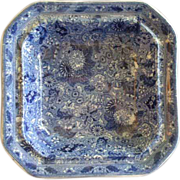 Brown-Westhead, Moore & Co.- Blue Transfer 'Siam' Pattern Open Vegetable Bowl