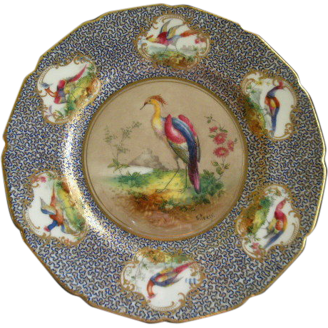 Royal Doulton H.P. 'Birds of Paradise' Cabinet Plate (5 of 6) Signed 'E Percy'