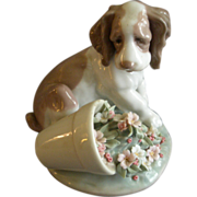 "Lladro ""It Wasn't Me"" Porcelain Sculpture #07672"