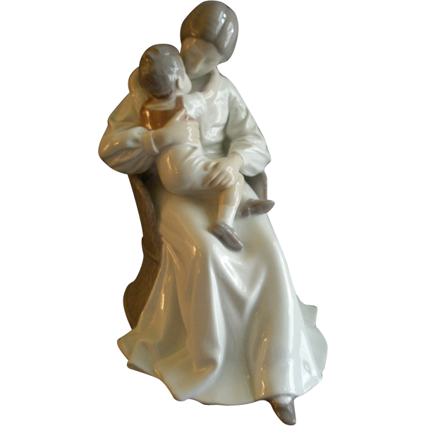 "Bing & Grondahl Porcelain ""Mother Love"" Sculpture by Ingebirg Irminger #1552"