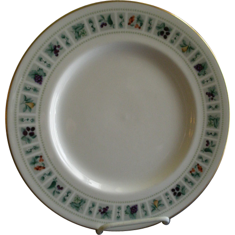 "Set of 4 Royal Doulton ""Tapestry"" Pattern Dinner Plates"