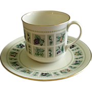 "Set of 4 Royal Doulton ""Tapestry"" Pattern Cups & Saucers"