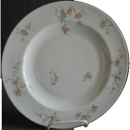 "Theodore Haviland, New York, ""Pink Spray"" Pattern - Set of 4 Dinner Plates"