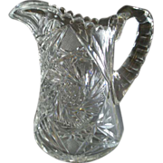 """Brilliant"" Cut Glass Water Pitcher"